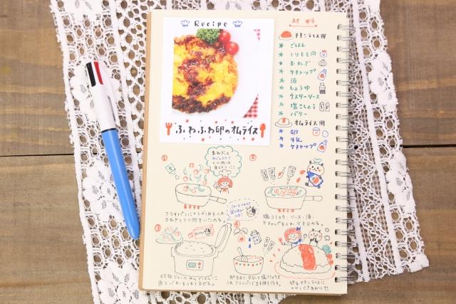 料理がもっと楽しくなる!手書きレシピノートの作り方と整理方法